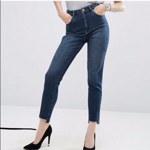 ASOS Farleigh Step Hem High Waisted Mom Jeans
